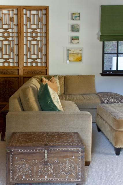 Charmean Neithart Interiors, LLC. mediterranean-family-room