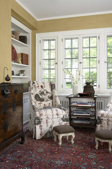 客厅黑色窗台美式风格装饰效果图