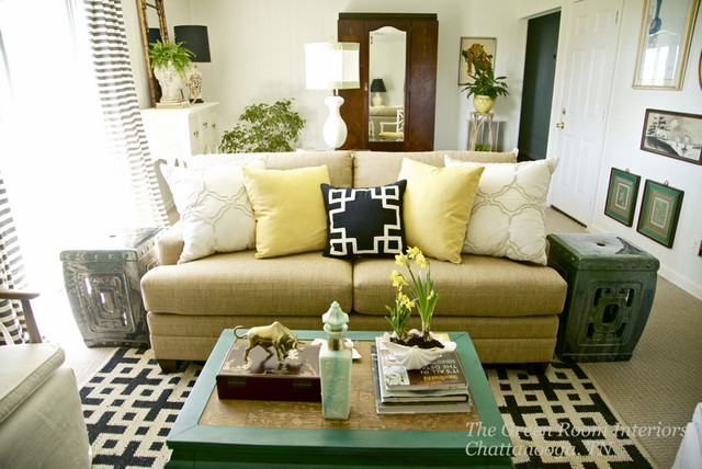 Chattanooga Family Room Makeover eclectic-family-room