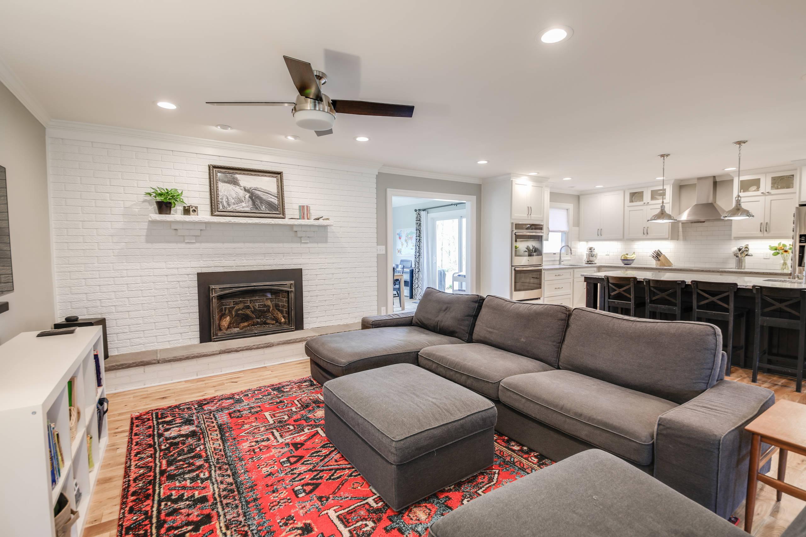 Cheat Lake: Living Room and Kitchen Renovation