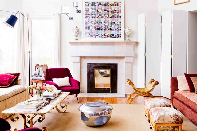 Chic Traditional Home transitional-family-room