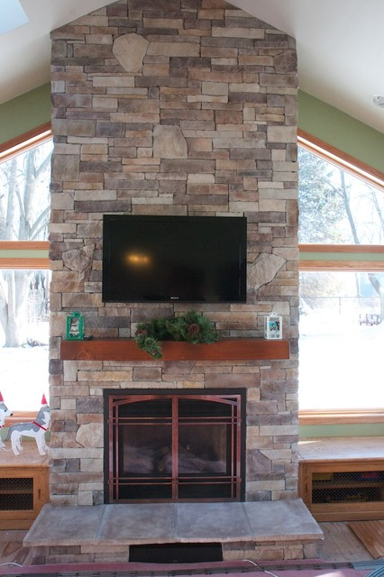 Chicago's Ugliest Fireplace Contest Winner - The Transformation traditional-family-room