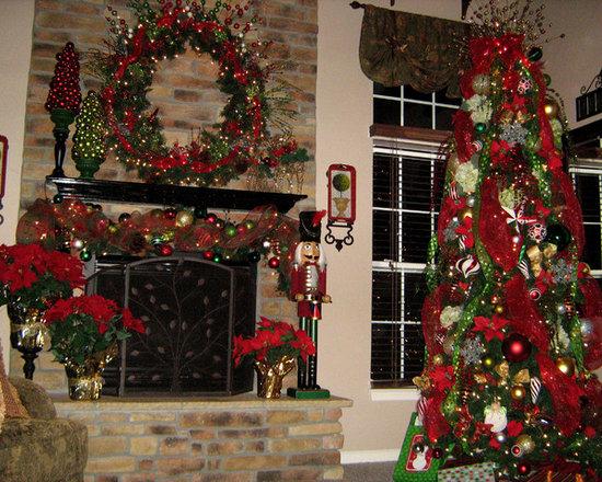 Decorating Ideas > Traditional Christmas Wreath Poly Mesh Ribbon Home Design  ~ 220117_Christmas Decorating Ideas Using Mesh Ribbon