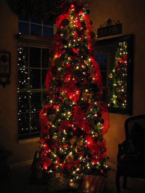 Christmas Family Room Tree Traditional Family Room