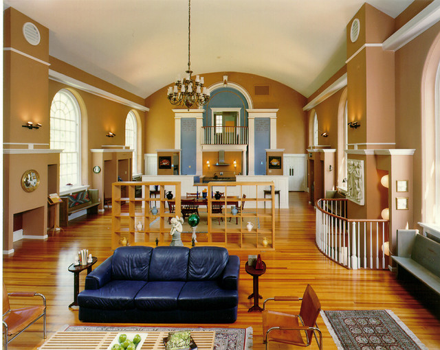 Church Conversion to Residence, Swarthmore, Pennsylvania traditional-family-room