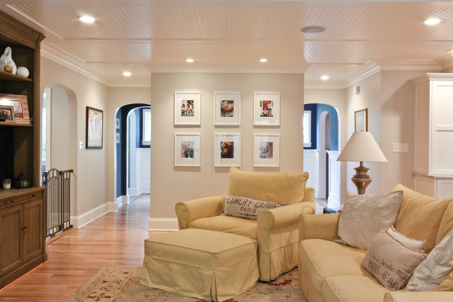 Classic Coastal Colonial Renovation - the Anti McMansion traditional family room