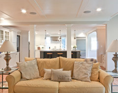 Classic Coastal Colonial Renovation - the Great Room traditional-family-room