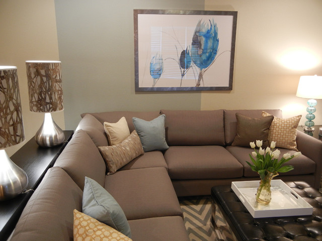 classic modern condo traditional family room