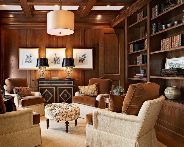 Classic Oak Study traditional-family-room