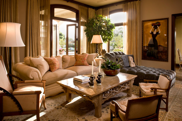 Classic Traditional Residence Traditional Family Room Orange