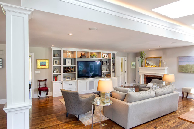 Classic Transformation - Traditional - Family Room - New York - by Knight Architects LLC