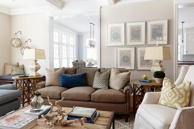 Classical Nantucket Dream Home Beach Style Family Room