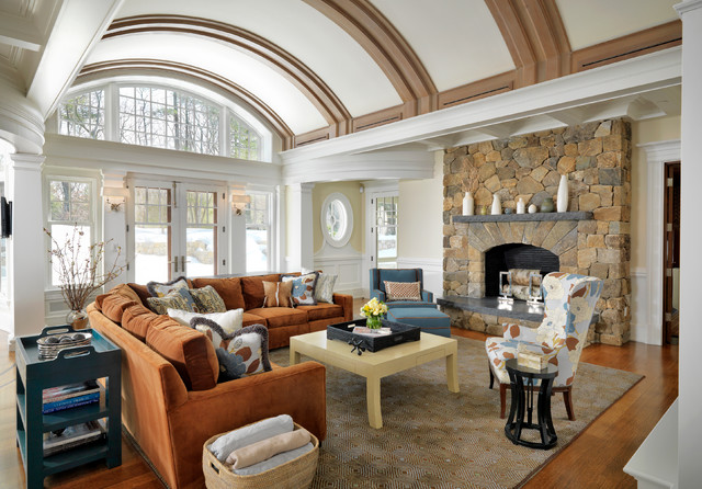 Classical Shingle traditional family room