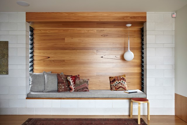 Clayfield House Niche Seating Area contemporaneo-sala-de-estar
