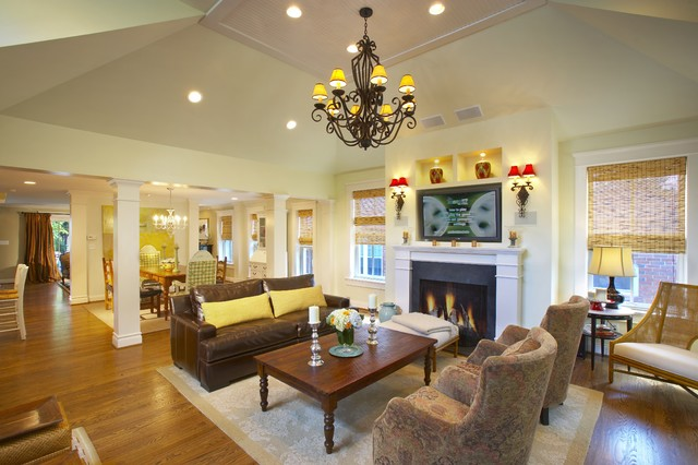 traditional family room by Michael Lauren Development LLC