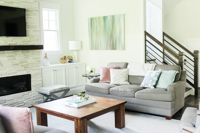 Clean and Bright Family Room transitional-family-room