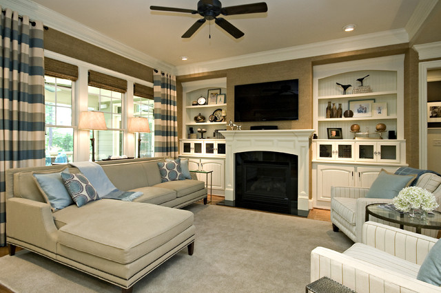 Clean & Simple Lines traditional-family-room