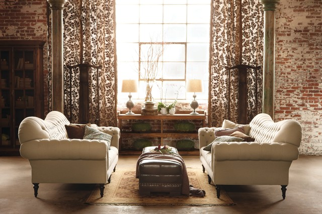 Club Sofa Traditional Family Room Cleveland By Arhaus - Arhaus club sofa