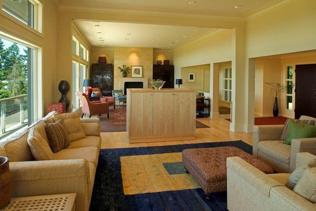 Clyde Hill Addition Remodel contemporary-family-room