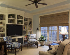 Coastal Den beach style family room
