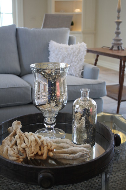 Coastal Design Home Staging Vignettes traditional family room