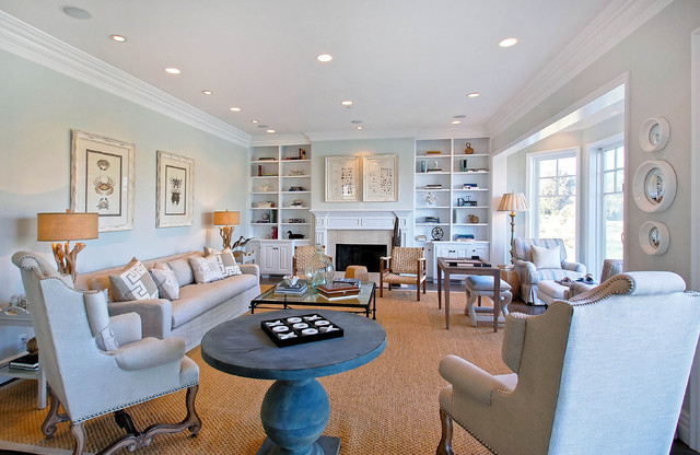 Coastal family room traditional family room los for Family room los angeles