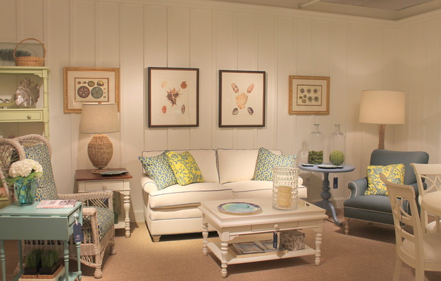 Coastal Living Cottage Accents Tropical Family Room
