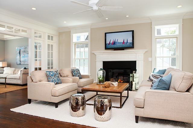 beach style living rooms. Coastal Living in Fairfield county beach style family room  Beach Style Family Room