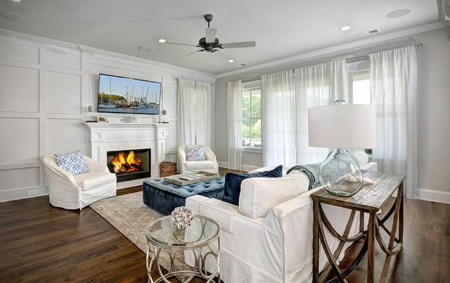 coastal living room bord de mer salle de s jour. Black Bedroom Furniture Sets. Home Design Ideas