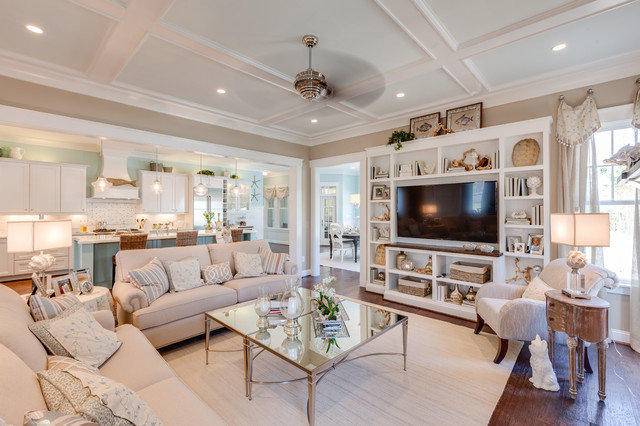 Coastal Virginia Idea House Beach Style Family Room Awesome Ideas