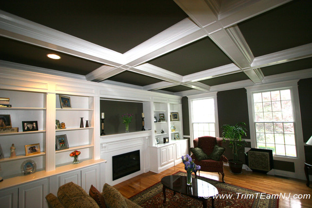 Coffered Ceilings and Beams traditional-family-room