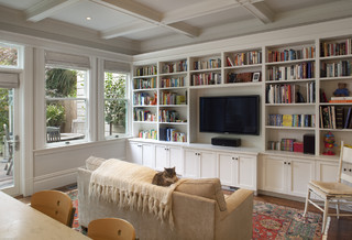 Cole Valley Residence - Family Room - Traditional - Family Room - San Francisco - by Gast Architects