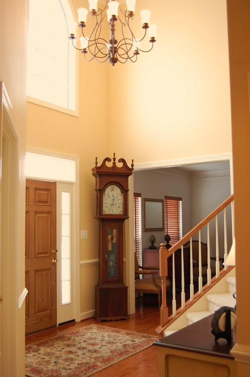 Love the two wall colors (downstairs and upstairs hallway). Can you ...