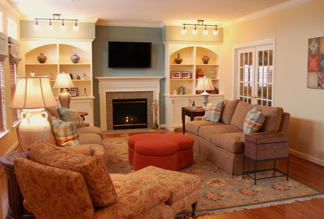 Color, Texture, Pattern traditional family room