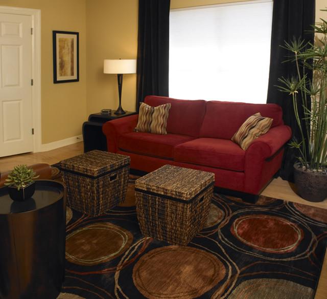 Colorful Condo contemporary-family-room