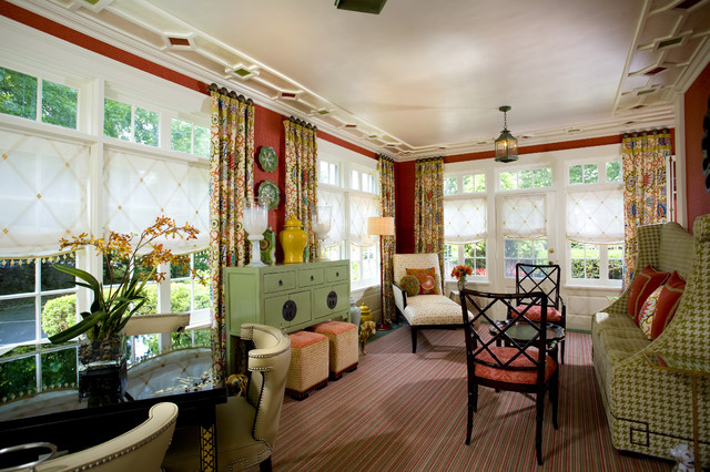 Colorful Sunroom eclectic family room