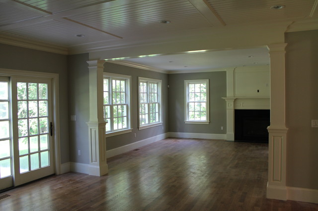 Columned Opening Interior Trim Traditional Family Room Boston By Cust