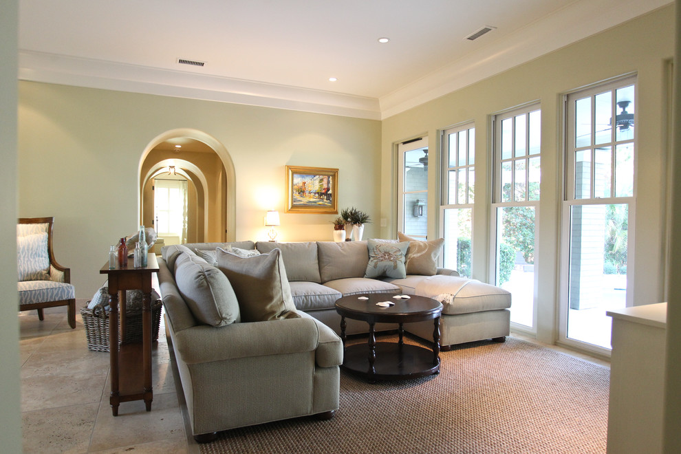 Family room - traditional family room idea in Charleston