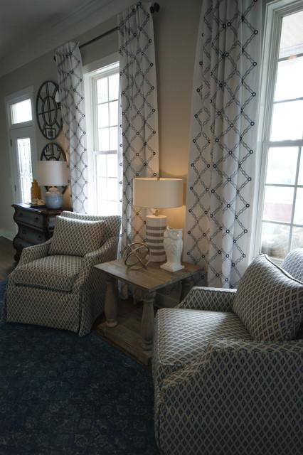 Transitional family room photo in Atlanta