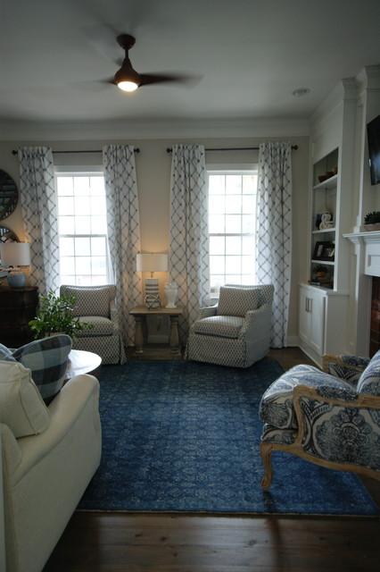 Family room - transitional family room idea in Atlanta