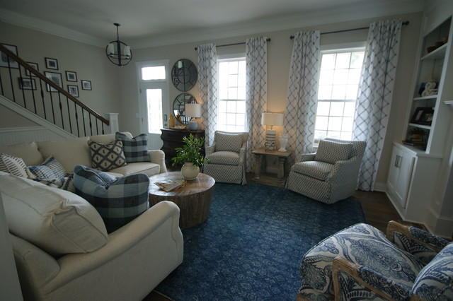 Inspiration for a transitional family room remodel in Atlanta