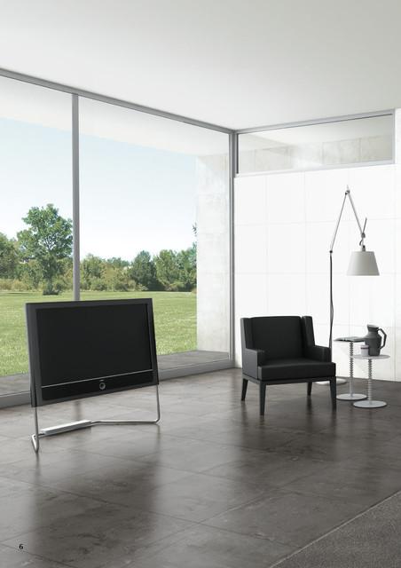 Concrete Series - Porcelain Tile 18x36 contemporary-family-room