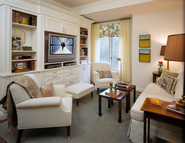 Connecticut avenue condo traditional family room dc for Den living room designs