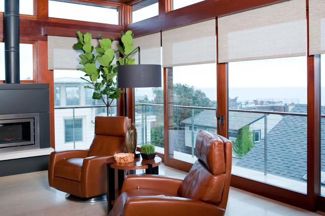 Contemporary Beach House contemporary-family-room