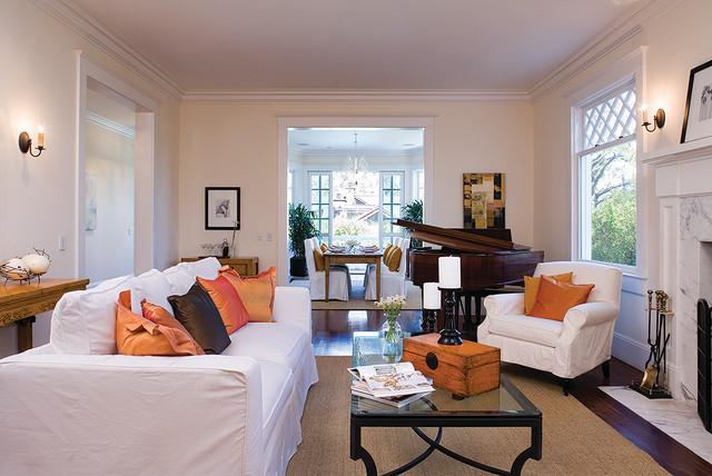 Contemporary Bungalow contemporary-family-room