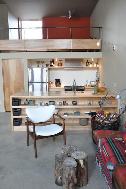 contemporary cabin contemporary-family-room