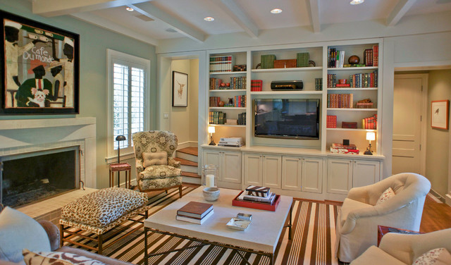 Contemporary Classicist traditional-family-room