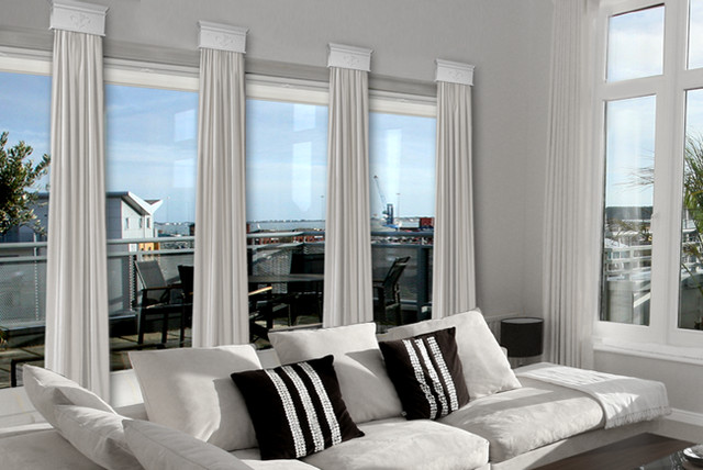 Contemporary Cornice Window Treatments