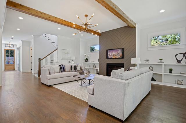 Example of a trendy family room design in Atlanta