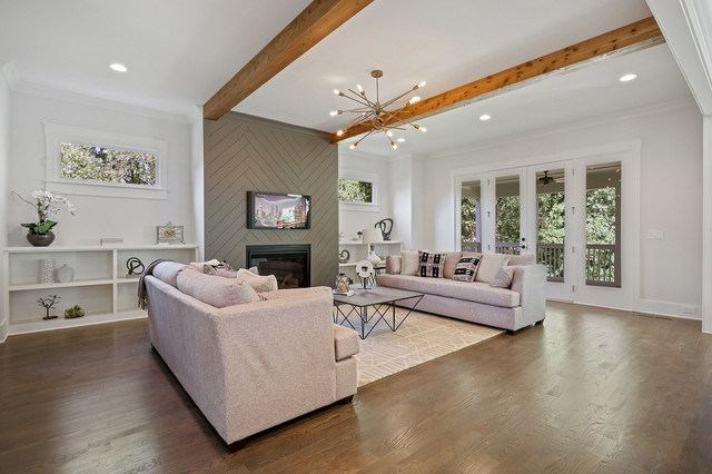 Inspiration for a contemporary family room remodel in Atlanta